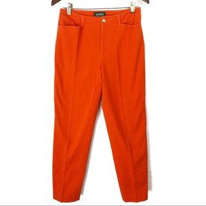 Lauren Ralph Lauren Orange Straight Leg Pants
